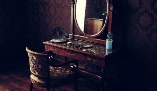 come decorare un vecchio specchio